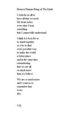 Dearest Human Being