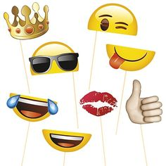 Emoji Party Photo props - fun emoji party props for the ultimate emoji party