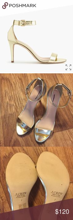 Selling this J. Crew mirror metallic high-heel sandals in my Poshmark closet! My username is: jack00. #shopmycloset #poshmark #fashion #shopping #style #forsale #J. Crew #Shoes