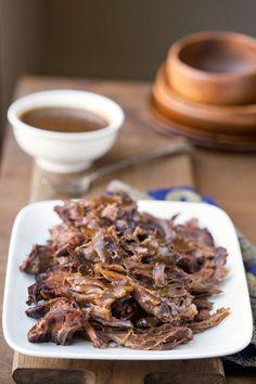 Crock Pot Balsamic Beef Recipe - easy slow cooker way to enjoy roast for dinner!