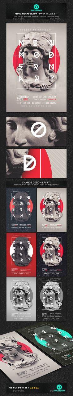 Modern Art Minimal Flyer Template PSD. Download here: https://graphicriver.net/item/modern-art-minimal-flyer-template/17388870?ref=ksioks