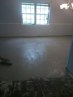 Self leveling compound apply to sub floor.