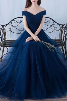 Tulle organza off-shoulder Prom Dresses,A-line long prom dresses,Floor Length Prom Dresses,Long Prom Dresses