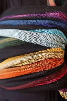Girasol Corrina's Rainbow *cuervo* twill exclusive woven wrap 9/2013 $160