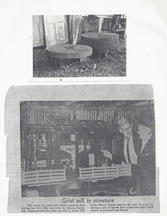 Mill Stone from Lastie Reon's Mill on Contraband Bayou (top) Replica of the mill built by Semon Benoit (Semon Benoit and Louis Piboin) American Press, Lake Charles, Family History, Genealogy, Families, Stone, Rock, My Family, Stones