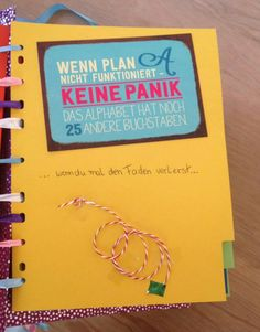 Wenn-Buch ... wenn Plan A nicht funktioniert ...