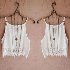 Fashion Sexy Women Lady Summer Lace Sleeveless Camisole Casual Crop Blouse Tops Shirt
