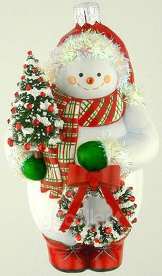 Little Pine (Red, White and Green) Patricia Breen Designs (Enamel, Green, Pearl/white, Plaid, Red, Snowman, wreath, Christmas tree)