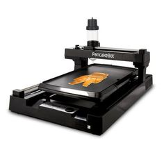 The Pancake Bot is the world's first food printer capable of printing pancakes by automatically dispensing batter directly onto a griddle. Pancake designs can be loaded onto the Pancake Bot via SD card. Users can make their own pancake designs with t Healthy Dinner Recipes, Low Carb Recipes, Appetizer Recipes, Vegetarian Recipes, Free Recipes, Breakfast Recipes, Burger Recipes, Healthy Snacks, Pancake Designs