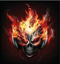 View top-quality illustrations of Man In Flames. Find premium, high-resolution illustrative art at Getty Images. Skull Tattoo Design, Skull Tattoos, Dark Fantasy Art, Dark Art, Grim Reaper Art, Totenkopf Tattoos, Ghost Rider Marvel, Skull Pictures, 49ers Pictures