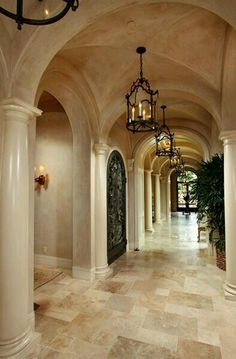 Hallway to a side exit?