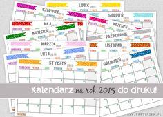 Kalendarz do druku na rok 2015! - gratis! World Information, Free Images, Periodic Table, Clever, Calendar, Geek Stuff, Map, Planner Ideas, Blog
