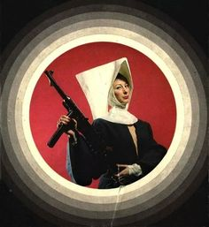 Nun with a Gun - Carefully selected by Gorgonia - www. Scary Snakes, Lets Get Weird, Good Girl Gone Bad, Cryptozoology, Color Photography, Deities, Occult, Cool Girl, Beast