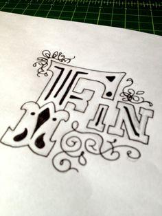 Fin  Handwritten typography 1.25.13 photo