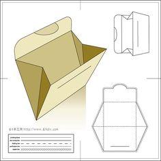 几款实用的纸袋展开图2