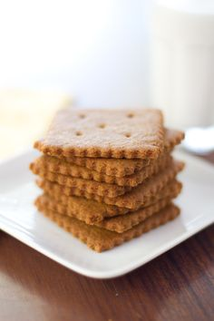 Homemade Graham Crackers at Chasing Delicious