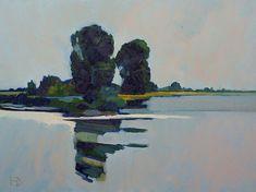 Frank Dekkers is een landschapsschilder pur sang. Hij schildert tijdloze Nederlandse landschappen met een minimalistische, serene uitstraling.
