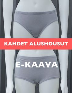 E-KAAVA kahdet ALUSHOUSUT naiselle koot 34-52 ohje SUOMEKSI image 2 Bikinis, Swimwear, Hipster, Sewing, Trending Outfits, Etsy, Fashion, Bathing Suits, Moda