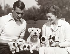 Gary Cooper and wife Veronica (Rocky)
