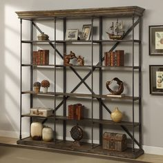 large bookcase mabie large etagere bookcase YTITOTI - Home Decor Ideas Large Bookcase, Etagere Bookcase, Bookcases, Open Bookcase, Hooker Furniture, Home Office Furniture, Furniture Ideas, Urban Furniture, Wood Furniture