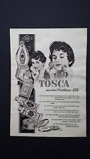 TOSCA aus dem Welthaus  4711  Parfum,Seife,Creme u.a. - Werbung / Reklame - 1956