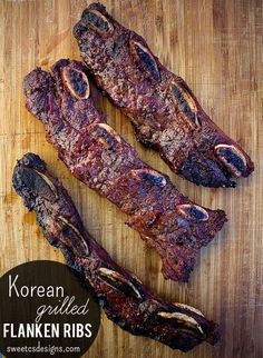 Korean Grilled Flanked Ribs at sweetcsdesigns com - only take 8 minutes on the grill!