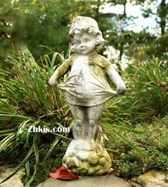 Young Girl Garden Statue