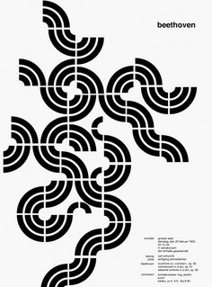 Josef Müller-Brockmann, poster design for a Beethoven concert, 1955. Tonhalle, Zürich.