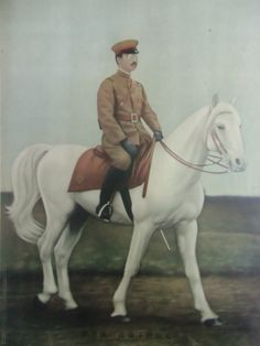 vintage Japanese painting print Emperor Hirohito Showa army Japanese Painting, Japanese Prints, Vintage Japanese, Painting Prints, Army, Horses, History, Antiques, Animals