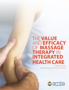 You will need this if you want to work on getting massage covered by health insurance. The Value and Efficacy of Massage Therapy in Integrated Health Care and Member Guide — American Massage Therapy Association
