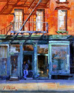 Saatchi Online Artist: Joseph Palazzolo; Oil, 2012, Painting Christopher Street Tattoo, Greenwich Village NYC