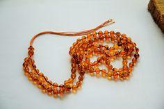 Genuine Baltic amber mala Round amber beads 108 by AmberGiftLT