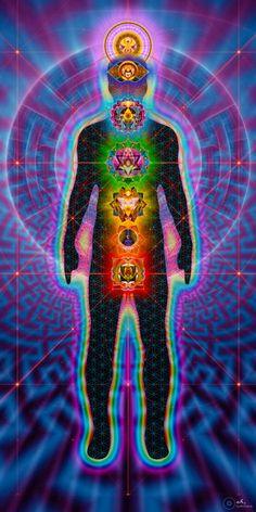 Chakras Body Charger Sacred Geometry Visionary Art par luminaya