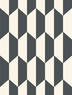 Buy Tile Wallpaper from the Geometric II Wallpaper Collection from Cole & Son, with an optical geometric design printed black and white. A simple and enduring motif. Geometric Patterns, Graphic Patterns, Tile Patterns, Geometric Art, Geometric Designs, Pattern Art, Textures Patterns, Pattern Design, Quilting Patterns