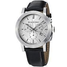 Other Watches 166739: Burberry-Men-039-S-Chronograph-Swiss-Stainless-Steel-Black-Leather-Watch-Bu9355 -> BUY IT NOW ONLY: $300 on eBay!