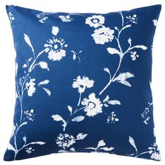 IKEA - BLÅGRAN, Cushion cover, blue, white, Cotton is a soft and easy-care natural material that you can machine wash. The hidden zipper makes the cover easy to remove. Sofa Pillow Covers, Cushion Covers, Ikea Sortiment, Block Out Curtains, Recycling Facility, Ikea Family, Motif Floral, Coordinating Colors, Queen Duvet