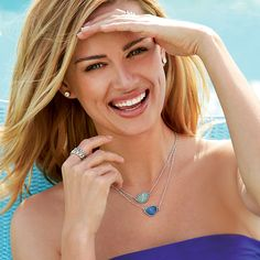 Layering necklaces: Layer our Ocean Splash necklaces for a great two tone look.