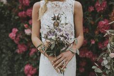 © mariemarryme @fineflowersco flowers · @otaduy dress #bouquet#wedding#bride#bohemian#boho #boheme #rustic #champêtre #folk