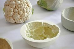 Reversed Volumes, Bowls, Mischer'traxler, vegetables shapes, vegetables textures, Art, Green Home decor