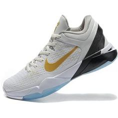 Nike Zoom Kobe 7 VII Elite Kobe Playoff Shoes HomeWhite/Gold0