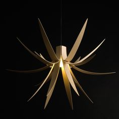 Iris Pendant Light By Alex MacMaster & Limahl Asmall @ Touch of Modern  //  One of the founding designs of the MacMaster range, the Iris Pendant Light consists of curved laminating timbers that echo the shape of Iris leaves. This presentation generates a sculptural, unique, and impacting form