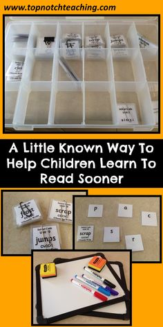 Learn a new way to help a child learn to read and improve his/her spelling and writing. http://topnotchteaching.com/lesson-ideas/help-children-learn-to-read-sooner/