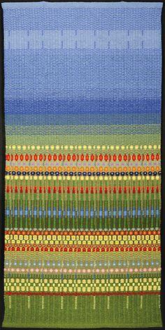"Maj-Britt Mobrand: Glimakra Weaving Studio | A Midsummer Night's Dream | bound weave | 50"" x 29"" | Berkeley, California, U.S.A. | 2008"