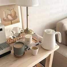 Home cafe korean beige aesthetic coffee drinks tea latte food room decor kitchens inspo apartment decor wooden palette room brown j. Cream Aesthetic, Brown Aesthetic, Aesthetic Rooms, Aesthetic Coffee, Aesthetic Themes, Aesthetic Design, My New Room, My Room, Home And Deco