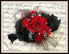 Vintage red roses Prom Coursage and Boutonniere by flowersbykaren1, via Flickr