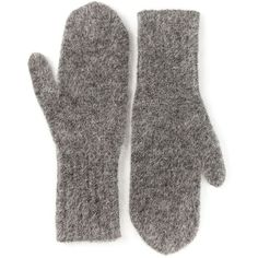 Acne Studios 'Dea' mittens (3,680 MXN) ❤ liked on Polyvore featuring accessories, gloves, fillers, socks/gloves, grey and acne studios