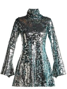 feddbf03c62c Metallic sequined mini dress