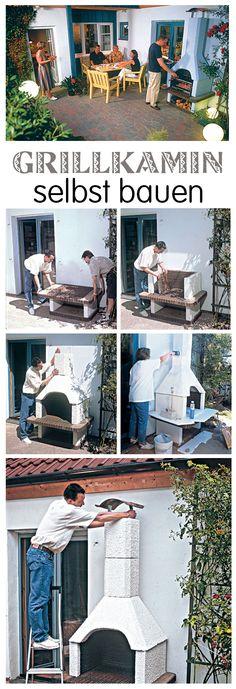 Ein Grillkamin kann man dank Bausatz schnell selbst bauen. Anders als ein mobiler Grill kann er auch das ganze Jahr über im Freien stehen. Zudem führt der Grillkamin Rauch und Qualm sauber ab. Außerdem heizt ein massiver Kamingrill die Terrasse auch nach dem Grillen bis spät in die Nacht mit kostenloser Abwärme!