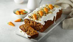 Gulrotkake med kremostglasur & marsipan - Kinsarvik naturkost Frisk, Banana Bread, Baking, Desserts, Food, Cakes, Baking Soda, Tailgate Desserts, Deserts