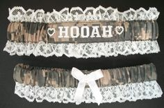 Lace  and Acu Army Garter Set with HOOAH by CreativeGarters
